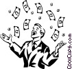 money windfall Vector Clipart picture