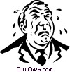 Vector Clipart graphic  of a businessman crying