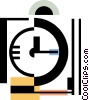 Vector Clipart graphic  of a clock