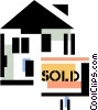 house sold Vector Clip Art picture
