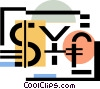 Vector Clipart image  of a currency symbols