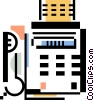 Vector Clip Art picture  of a office phone