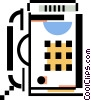 office telephone Vector Clip Art graphic