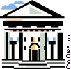 Vector Clipart graphic  of a financial institution