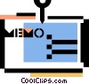 Vector Clipart graphic  of a message/memo