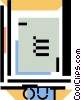 Vector Clip Art image  of a out-box