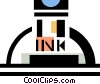 Vector Clip Art graphic  of a ink bottle