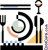 place setting Vector Clipart picture