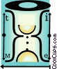 hourglass Vector Clipart illustration