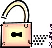 Vector Clip Art graphic  of a padlock