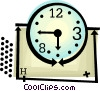 clock Vector Clipart graphic