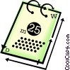 Vector Clipart graphic  of a calendar