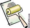 paint roller Vector Clipart illustration