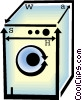 Vector Clip Art image  of a washing machine
