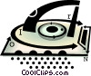 electric iron Vector Clipart image