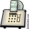 calculator Vector Clip Art image