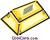 gold bar Vector Clipart illustration