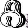 Vector Clipart illustration  of a padlock