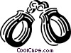 Vector Clipart illustration  of a handcuffs
