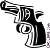 Vector Clip Art picture  of a pistol