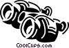 Vector Clip Art image  of a binoculars