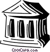 Vector Clipart illustration  of a financial institution