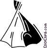 Vector Clipart graphic  of a teepee/wigwam