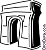 Vector Clip Art picture  of an Arc de triomphe