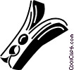 Vector Clip Art picture  of a clothes pin