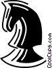 Vector Clip Art graphic  of a chess piece