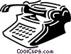 typewriter Vector Clipart illustration