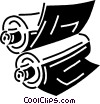 Vector Clip Art graphic  of a printing press