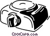 Vector Clipart picture  of a slide projector