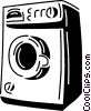 Vector Clip Art image  of a clothes dryer