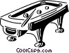 Vector Clipart picture  of a pool table