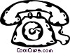 telephone Vector Clipart graphic