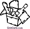 box of groceries Vector Clipart picture