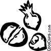 Vector Clip Art graphic  of a nuts