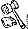 meat tenderizer Vector Clip Art graphic