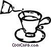 Vector Clip Art image  of a teacup