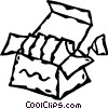 Vector Clip Art image  of a box of tea