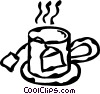 teacup Vector Clipart graphic