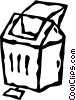 Vector Clipart image  of a trash can