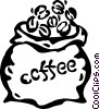 Vector Clipart image  of a coffee beans