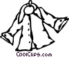 Vector Clip Art picture  of a coat