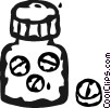 pill bottle Vector Clipart picture