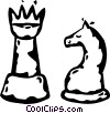 Vector Clip Art image  of a chess pieces