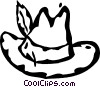 hat with a feather in it Vector Clip Art picture