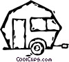 Vector Clip Art graphic  of a camper trailer