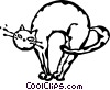 Vector Clipart picture  of a cat